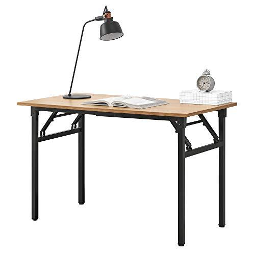 [neu.haus] Klapptisch - 120 x 60 x 75-76,4cm Schreibtisch Bürotisch Computertisch Tisch Klappbar Buche/Schwarz