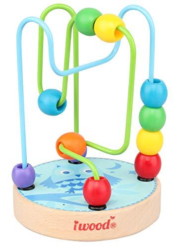 Iwood- Laberinto para Bebé de Madera Infantil: Búho, Multicolor (12009)