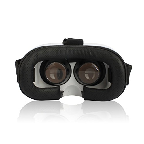 SIDARDOE 3D VR Brillen, Virtual Reality Headset für iPhone 6 6s Plus Samsung HTC Sony und andere Android Smartphones Schwarz