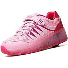 TORISKY Zapatillas con ruedas led 5 colores deportivas para niños niñas