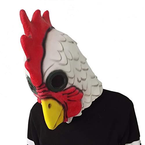 Von Einem Kostüm Huhn Bilder - Haoxiaren Weiß Latex Rooster Erwachsene Mad Huhn Hahn Maske Halloween Scary Lustige Maskerade