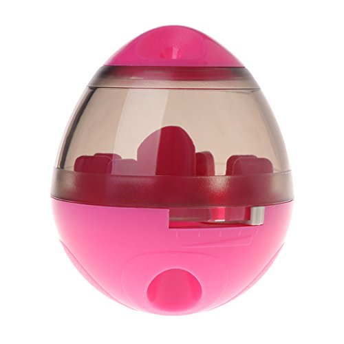 Xuniu Pet Dog Cat Toys, Vaso dispensador de bocadillos Juguete para Jugar y Alimentar Hot Pink 12cm