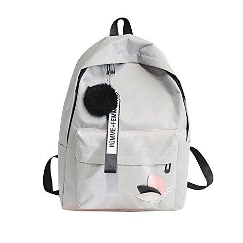 OYSOHE Unisex Rucksack, Mode Neutral Segeltuch Rucksack Tasche Schulter Leinwand Schule Mädchen Junge Handtasche -