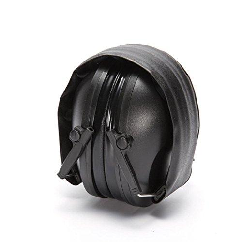 Cuffie antirumore antirumore per cuffie antirumore per dormire, Tactical Electronic Sport Protection Cuffie per archetto Prevenzione del rumore Headset Over Ear (Nero)