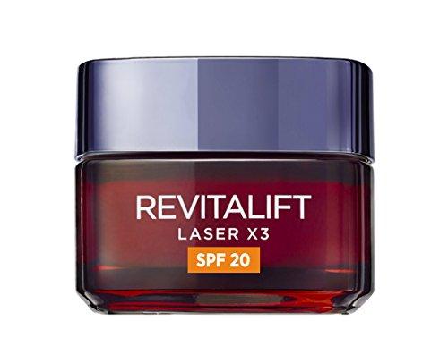 L'Oreal Revitalift Laser X3 Crema de Cuidado Facial de Día, SPF 20-50 ml