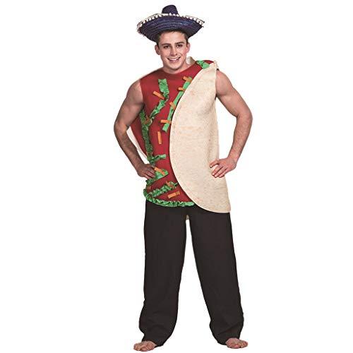 Kostüm Hexe Holloween - Myspace 2019 Neueste Dekoration für Halloween 3D DreidimensionAles Kostüm Halloween Kleider Unisex Kleid lustige Party Kostüm Cosplay (Burritos, Free Size)