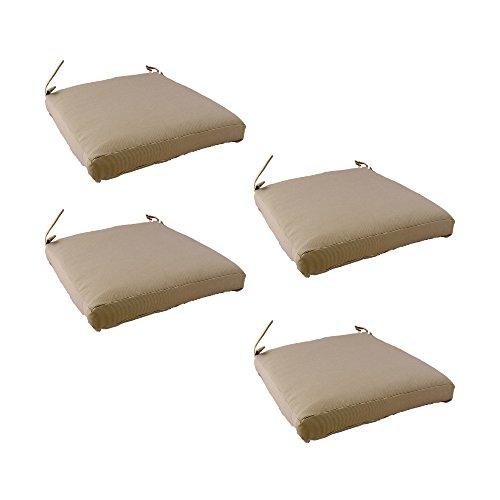 Edenjardi Pack 4 Cojines para sillas y sillones de jardín Color Lux Arena, Tamaño 44x44x5 cm, Repelente...
