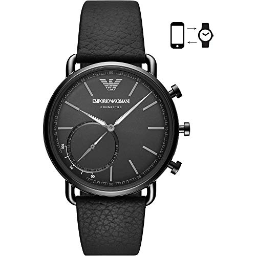 Emporio Armani Smartwatch Uomo con Cinturino in Pelle ART3030
