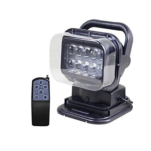 LED Suchscheinwerfer Arbeitsleuchte Funkfernsteuerbar mit Magnetfuß Suchlicht - CREE Chip Wetterfest 360 Grad Drehbar für Auto Offroad Jagd Boot Garden 50 W DC 12V Test