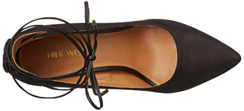 Nove in pelle occidentale Ebba pompa Dress Black