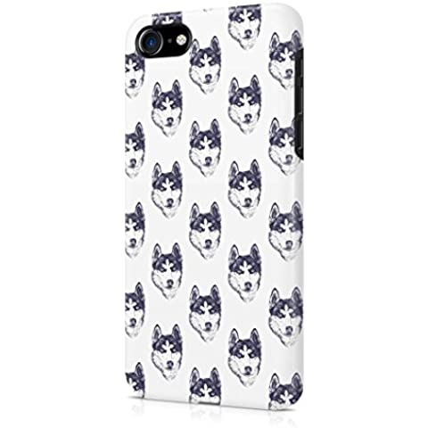 Husky Head Pattern Apple iPhone 7 Snap-On Hard Plastic Protective Shell Case Cover
