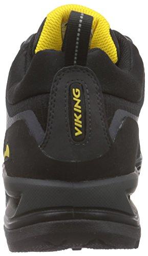 Viking Dis Boa Gtx, Bottines de randonnée homme Noir - Schwarz (Charcoal/Yellow 7713)