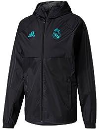 adidas RN JKT Chaqueta Real Madrid CF Temporada 2017/2018,  Hombre,  Negro (Gripur),  XL