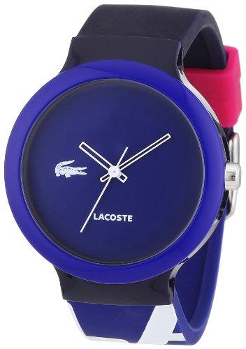 Lacoste 2020043 - Reloj analógico de cuarzo unisex con correa de silicona, color multicolor