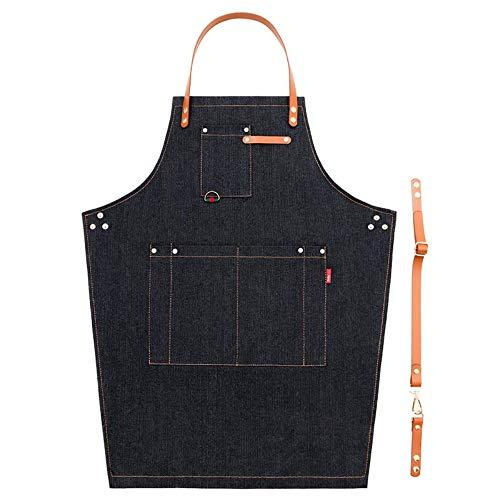 XHSSF-Tablier la Version coréenne, Les Hommes et Les Femmes waiters'work Jeans vêtements de Tablier,c