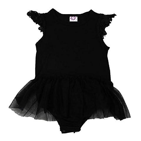 FEITOMG Newborn Baby Girl Enfants Infant Romper Jumpsuit Bodysuit Tutu Dress Vêtements Outfit (100)