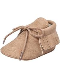 Zapatos para bebé, Culater Patucos de Velcro 0-18 meses (12'18 Meses, Caqui)