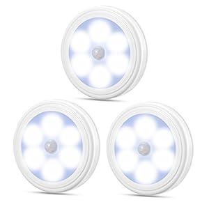 Oria Bewegungsmelder Nachtlicht, LED Batterie Bewegungsmelder Auto Nachtlicht, Schrankleuchten Licht, Treppe Nachtlicht…