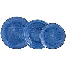 Quid Vita Vajilla de 18 Piezas, Cerámica, Azul, 32x30x30 cm