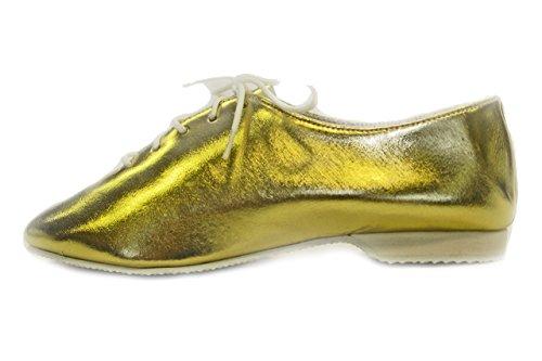 Klassicher Jazzschuhe, Voll Gummie Sohle, Folie, Glitter,  Hologramm Silber Glitter