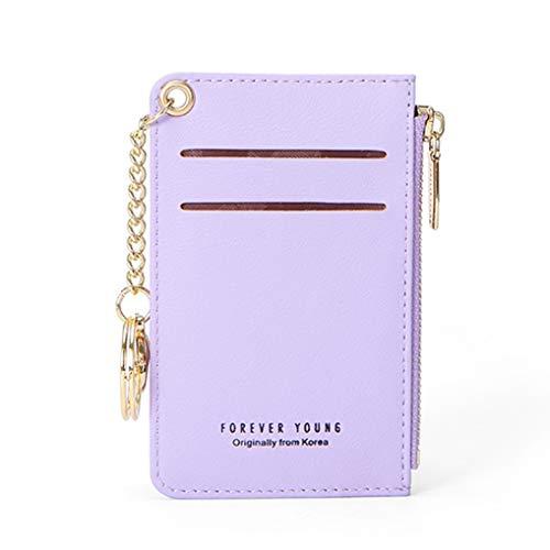 Mini-Kartenhalter Frauen aus weichem Leder Schlüsselanhänger Tasche Brieftaschen weibliche Münze Taschen