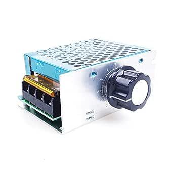 Angeek 4000w Ac 220v 10 220v Scr Elektronischer Spannungsregler Gouverneur Dimmer Thermostat Drehzahlregler Gewerbe Industrie Wissenschaft