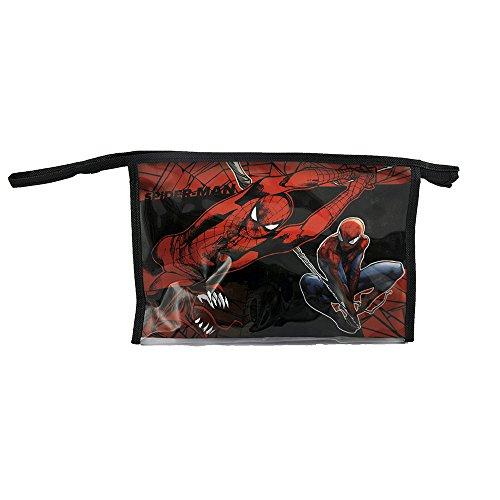 Diakakis 0500813 Set Trousse de Toilette garnie - Vanity Case sous Licence Spiderman - 5 pcs -Dimensions: 23x15x8cm Plastique, Rouge, 23 x 8 x 15 cm