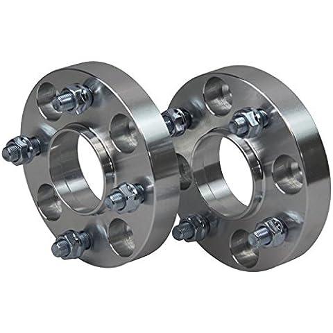 primecooling 20mm adattatori Distanziali ruota 4X 100M12x 1,5CB = 57.1mm per BMW Serie 3E30(Confezione da (Ruota Stud Adattatori)