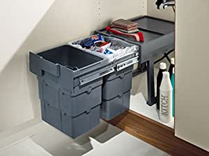 Suki Hardware Wasteboy Pull Out Waste Bin 2 X 16 Litres By