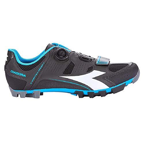 Diadora X Vortex Racer II, Scarpe da Ciclismo Unisex - Adulto, Multicolore Nero/Bianco/Blue Fluo 5193, 42 EU