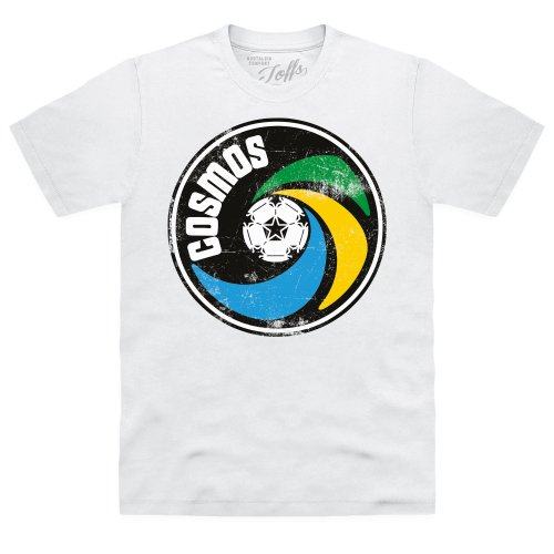 Official TOFFS - New York Cosmos Logo T-Shirt, Herren, Wei, M