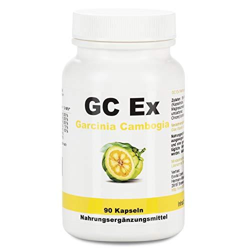GC Ex, 1500 mg Garcinia Cambogia Extrakt, 90 Kapseln in Premiumqualität, hochdosiert, 100% natürlich 1er Pack (1x 77g) -