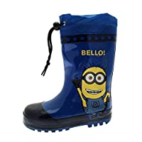 MINIONS Boys Rubber Tie Top Wellngton Boots