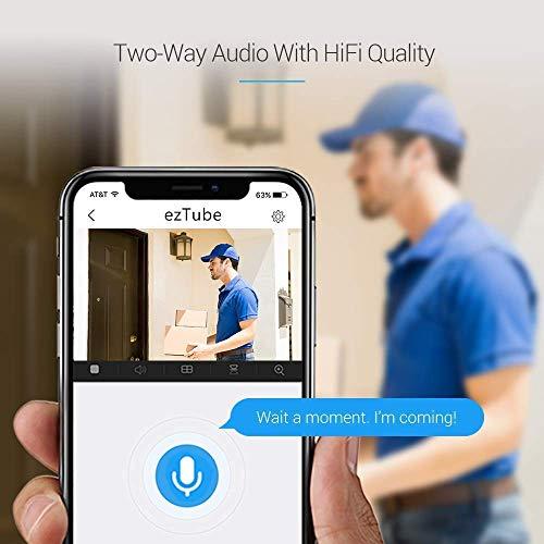 EZVIZ ezTube 720p Überwachungskamera aussen WiFi 2.4Ghz Kamera, Sirene und Licht Alarm, Nachtsicht, Zwei-Wege-Audio, High-DB-Lautsprecher, Cloud-Service, Smart Home Security, Kompatibel mit Alexa