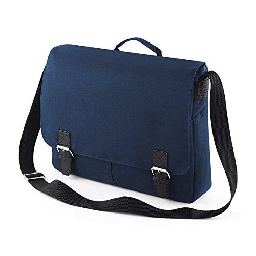 Klassische Umhängetasche - Tablet kompatibel - von BagBase Black