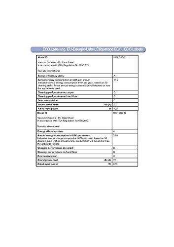 Numatic 900147/HDH201-12 Boden-Staubsauger Harry inkl. Spezialdüse für Tierhaare, classic grün - 3