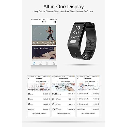 MCJL Fitness Tracker, Heart Rate Activity Tracker Fitness Armband Smart Watch Waterproof Blood Pressure Smart Armband mit Stopwatch Sport Sleep Monitor Pedometer Kalorie Frauen Männer,Black