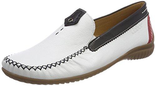 Gabor Shoes Damen Comfort Basic Slipper, Weiß (Weiss/Multic.), 37.5 EU