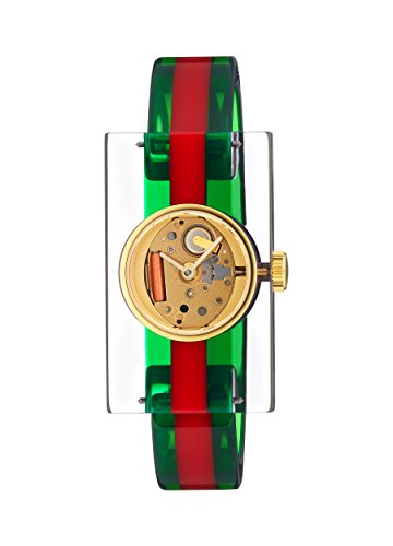 GUCCI PLEXI WATCH FASHION SHOW COLLECTION YA143503 (Gucci Web)