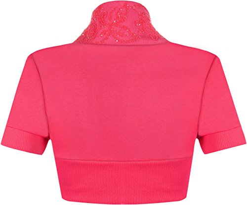 WearAll - Manches courtes cardigan - Hauts - Femme - Tailles 36-42 Cerise
