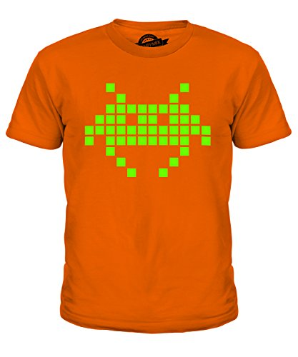 KIds Candymix Neon Retro Gaming Invader Tee - Many Colours - Ages 4-8 Yrs