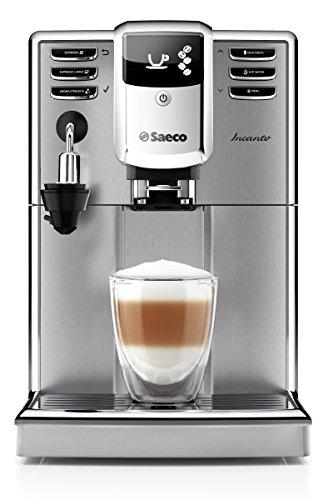 Saeco HD8914/01 - Máquina de café espresso automática con cappuccinatore y acabado de acero inoxidable, color negro y metalizado