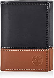 Timberland Men's Leather Trifold Wallet with ID Wi