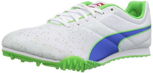 Puma TFX Star Jr v3, Unisex - Kinder Laufschuhe Weiß (01 white-strong blue-fluro green CO)