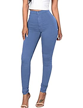 Minetom Vita Alta Leggings Donna Pantaloni Leggins Lungo Elastico Sportiva Jeggings Stretch Skinny Jeans Fitness...