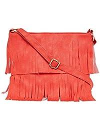 Alessia74 Women's Sling Bag (Orange) (PBG246A)