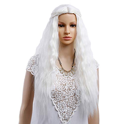 FeiXing158 Moda Pelucas de Cosplay Juego de Tronos Peluca Gris y Slivery sintética Rubia...