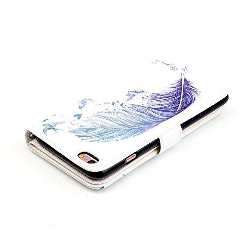 Etui Coque PU Slim Bumper pour Apple iPhone 6 Plus (5,5 pouces) Souple Housse de Protection Flexible Soft Case Cas Couverture Anti Choc Mince Légère Silicone Cover Bouchon -photo Frame Keychain #AS (6 12