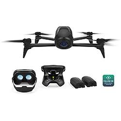 Parrot - Pack Drone Quadricoptère Bebop 2 Power + Lunette FPV + Skycontroller 2 - Noir