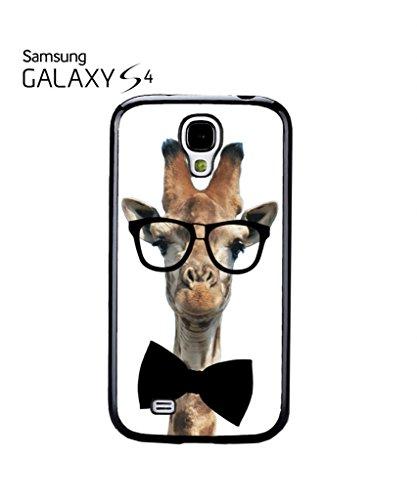 Geek Giraffe Nerd Geek Bow Tie Cool Funny Hipster Swag Mobile Phone Case Back Cover Hülle Weiß Schwarz Samsung Galaxy S4 Black